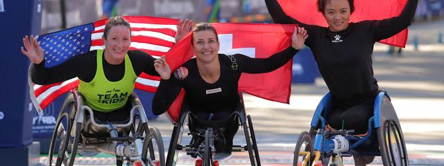 Ejemplar y contagiante la alegría  de vivir de estos deportistas  no importan sus circunstancias, lo importante es competir...