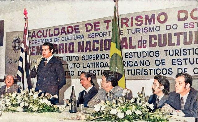 Intervención en el I SEMINARIO NACIONAL DE CULTURA TURISTICA DE BRASIL,1973, en la ciudad de Sao Paulo, impartido por el Instituto Superior de Estudios Turísticos Internacionales, de Canarias.