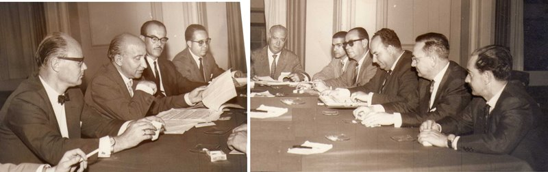 1963. Reunión del Comité Organizador de XXIV Congreso Mundial de los SKAL Club, en las Islas Canarias, evento que fuera fundamental para el desarrollo turístico de las islas. Nuestro cargo era encargado del Comité de Prensa y Relaciones Públicas.